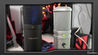 Novox NC-1 VS Superlux E205U porównanie popularnych mikrofonów USB