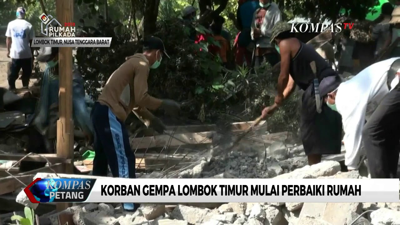 Korban Gempa Lombok Timur Mulai Perbaiki Rumah Youtube Untuk Keluarga Premium