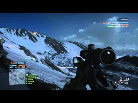 BF4 Sniper Kills Helicopter 1 Shot 500 Metres