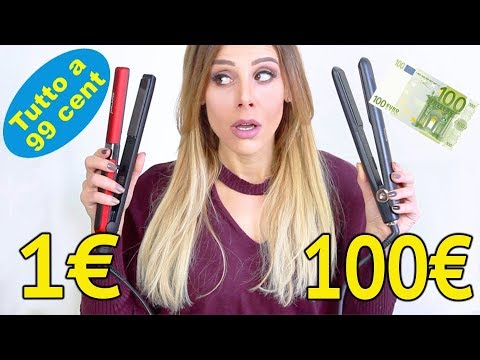 1€ vs 100€ 💸 SFIDA PIASTRA PER CAPELLI !!!