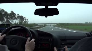 BMW M3 e36 Driving on German Autobahn Very FAST