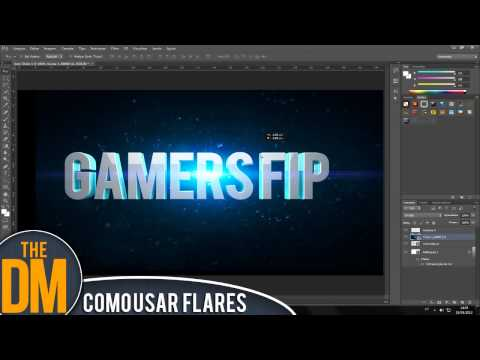 Photosho CS6// Como usar Optical Flares// PACK DE FLARES DOWNLOAD