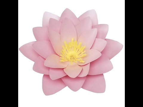 Paper Flower Tutorial: Water Lily