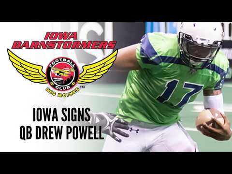 Iowa Barnstormers Sign QB Drew Powell