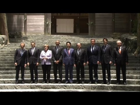 G7 leaders visit Japanese shrine