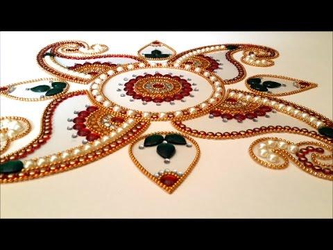 how to make kundan rangoli on ohp sheet