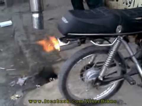 Flame from bike youtube for 70 bike decoration