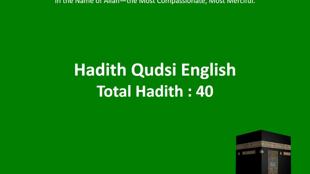 Hadees E Qudsi In English - Gambar Islami