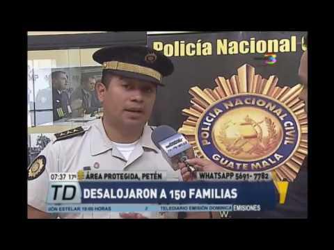 Desalojan a 150 familias en área protegida de Petén
