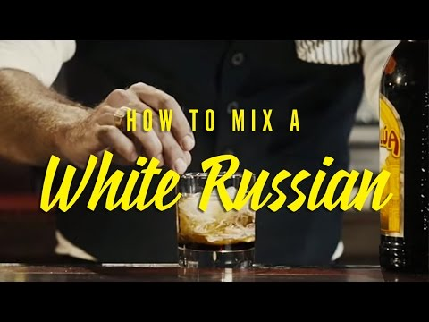 How to mix a perfect White Russian ��