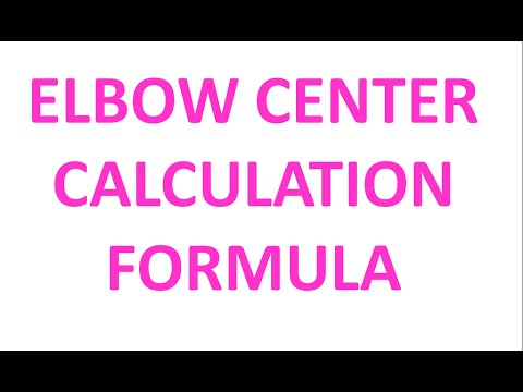 Elbow center calculation formula /piping