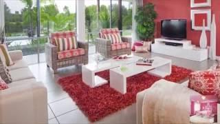 Контраст красного и белого цвета в интерьере