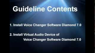 Install Virtual Audio Driver (VAD) of Voice Changer Software in Windows7 32-bit