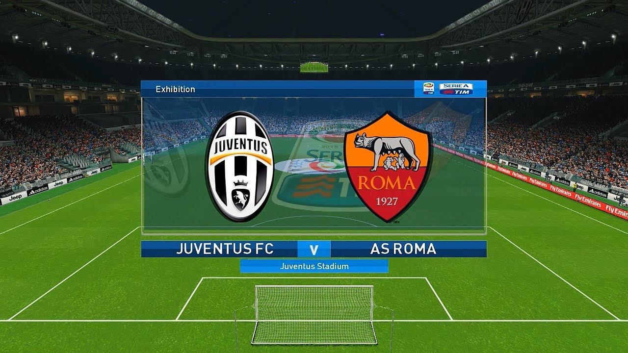 PES 2018 Juventus Vs AS Roma @ Juventus Stadium | Full ...