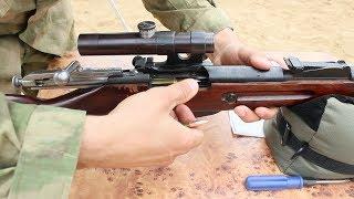 снайперская винтовка Мосина (Трехлинейка) с коробки стреляет в гильзу!!!