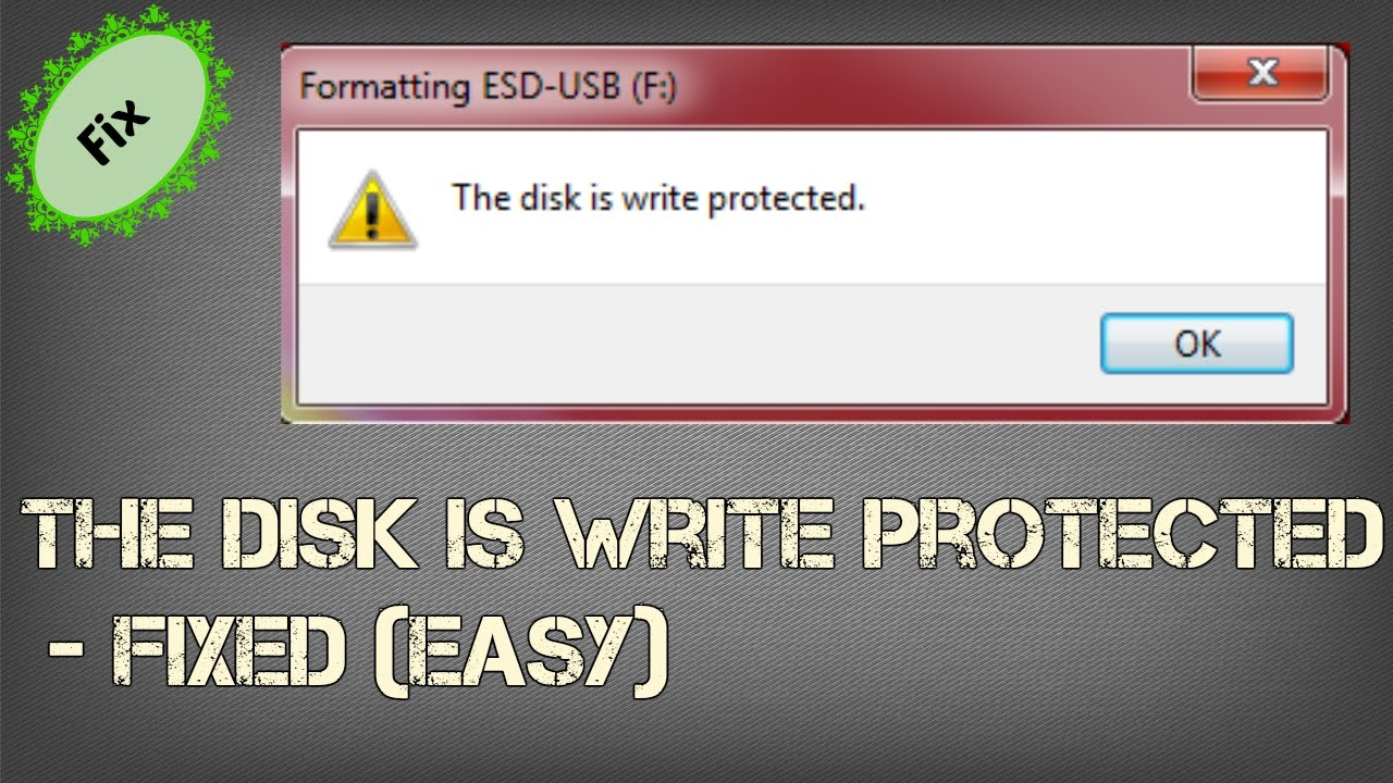 How to Remove Write Protection on USB drive - 2016