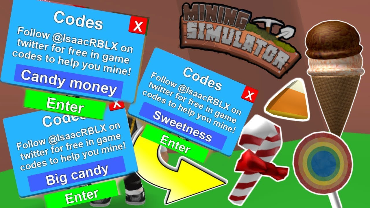 ALL CANDY CODES in Mining Simulator