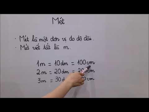 Toán lớp 2 - Mét. Bài tập về mét. Đăng ký học online cô Lan 0968035669