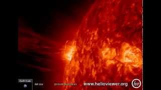 SOLAR FLARE - Strong eruption east of the Sun (May 9th, 2015) - Video Vax