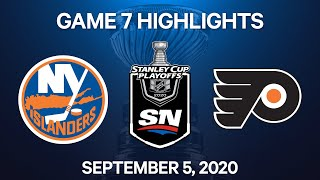 NHL Highlights | 2nd Round, Game 7: Islanders vs. Flyers – Sep. 5, 2020