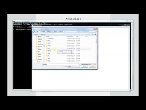 Drupal tutorials: install Drupal 7 with XAMPP and SQLite database