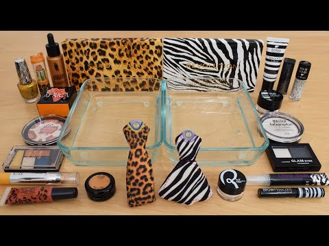 Download Cheetah vs Zebra - Mixing Makeup Eyeshadow Into Slime ASMR 289 Satisfying Slime Video