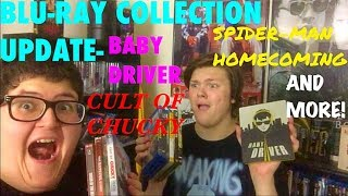 BLU-RAY COLLECTION UPDATE- BABY DRIVER/CULT OF CHUCKY/SPIDER-MAN HOMECOMING AND MORE!