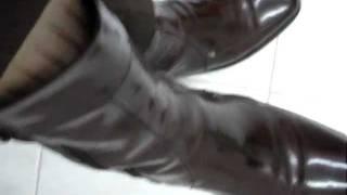 Mexican (brown) elegant suit + boot  + Louis Vuitton tie + sheer socks (stockings) 1