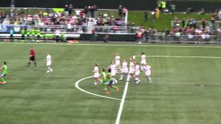 goal by veronica perez of the women's sounders. www.uninube.com