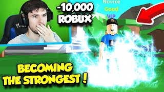 I Had To Spend ALL MY ROBUX To BECOME THE STRONGEST IN FIGHTING SIMULATOR!! (Roblox)