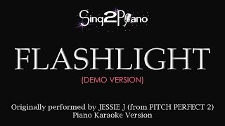 Video Flashlight (Piano karaoke demo) Jessie J & Pitch Perfect 2 download MP3, 3GP, MP4, WEBM, AVI, FLV Juli 2018