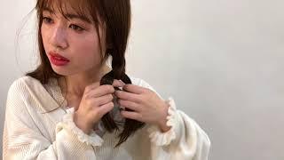 【簡単ヘアアレンジ】三つ編みで作るおさげ髪1 thumbnail