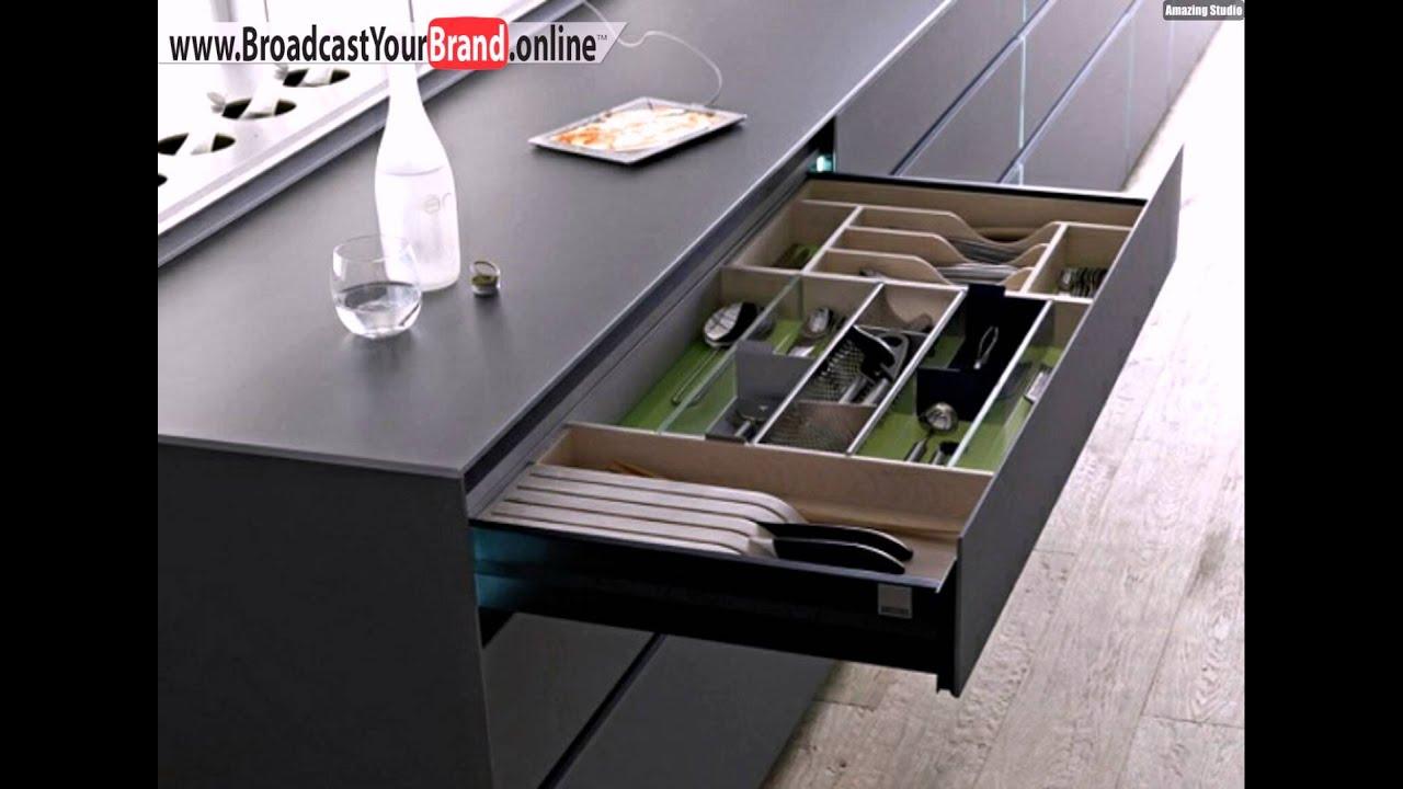 schublade moderne elegante küche - youtube - Schubladen Für Küchenschränke