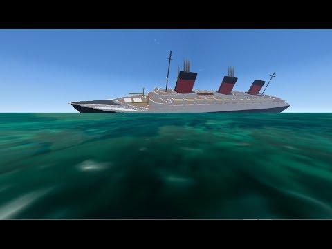 From the Depths, Sinking SS Normandie (Minecraft Design)