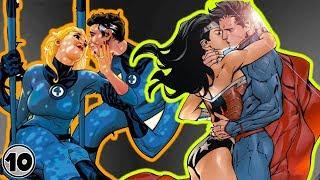 Top 10 Superhero Couples Who Went Too Far