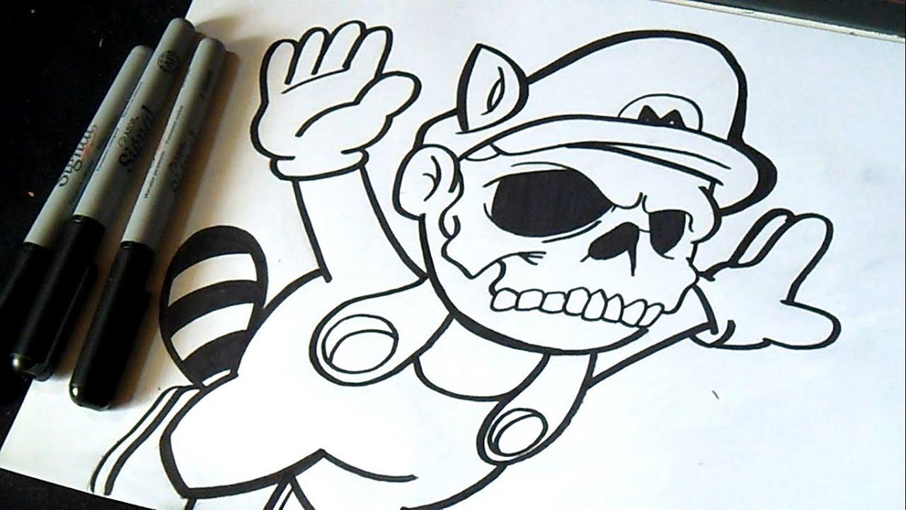 How To Draw Graffiti Spray Cans Dessin Mario Bros | Z&...