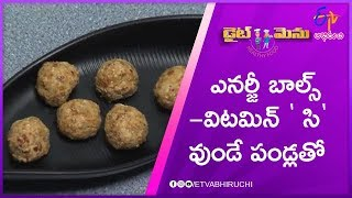 Energy Balls (Vitamin - C Rich Food) | Diet Menu | 24th October 2019 | ETV Abhiruchi