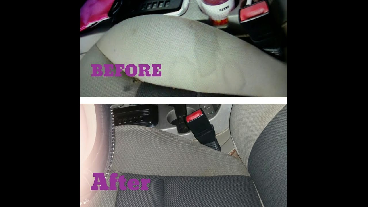 cleaning my car removing stains from upholstery youtube. Black Bedroom Furniture Sets. Home Design Ideas