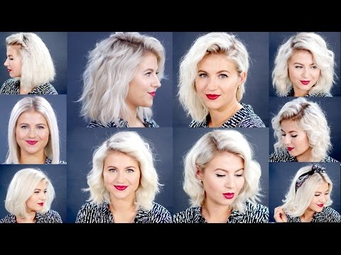 HOW TO: 10 Easy Short Hairstyles With Flat Iron Tutorial