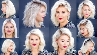 Download HOW TO: 10 Easy Short HairStyles With Flat Iron Tutorial | Milabu Mp3 and Videos