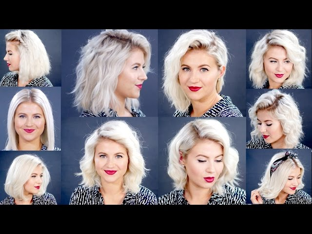 How To 10 Easy Short Hairstyles With Flat Iron Tutorial Milabu Youtube