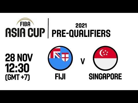 Fiji v Singapore - Full Game - FIBA Asia Cup 2021 Pre