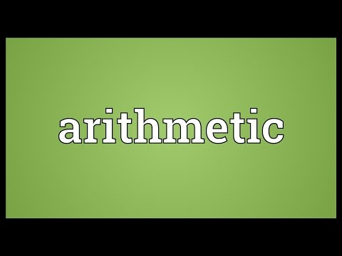 Arithmetic Meaning