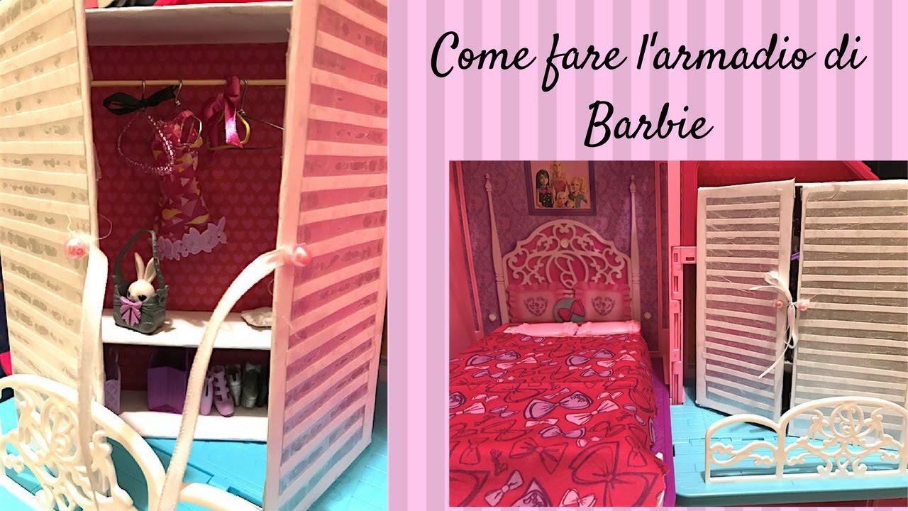Armadio Per Bambini Fai Da Te : Come fare l armadio di barbie youtube