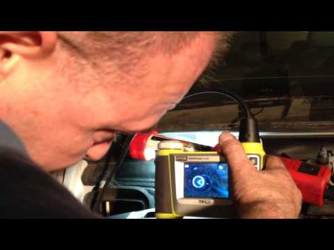 BMW N62 Secondary Air Cleaning - Removal of cleaning brush after flex cable breakage.