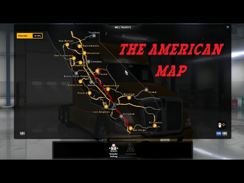 american truck simulator: the american map - youtube