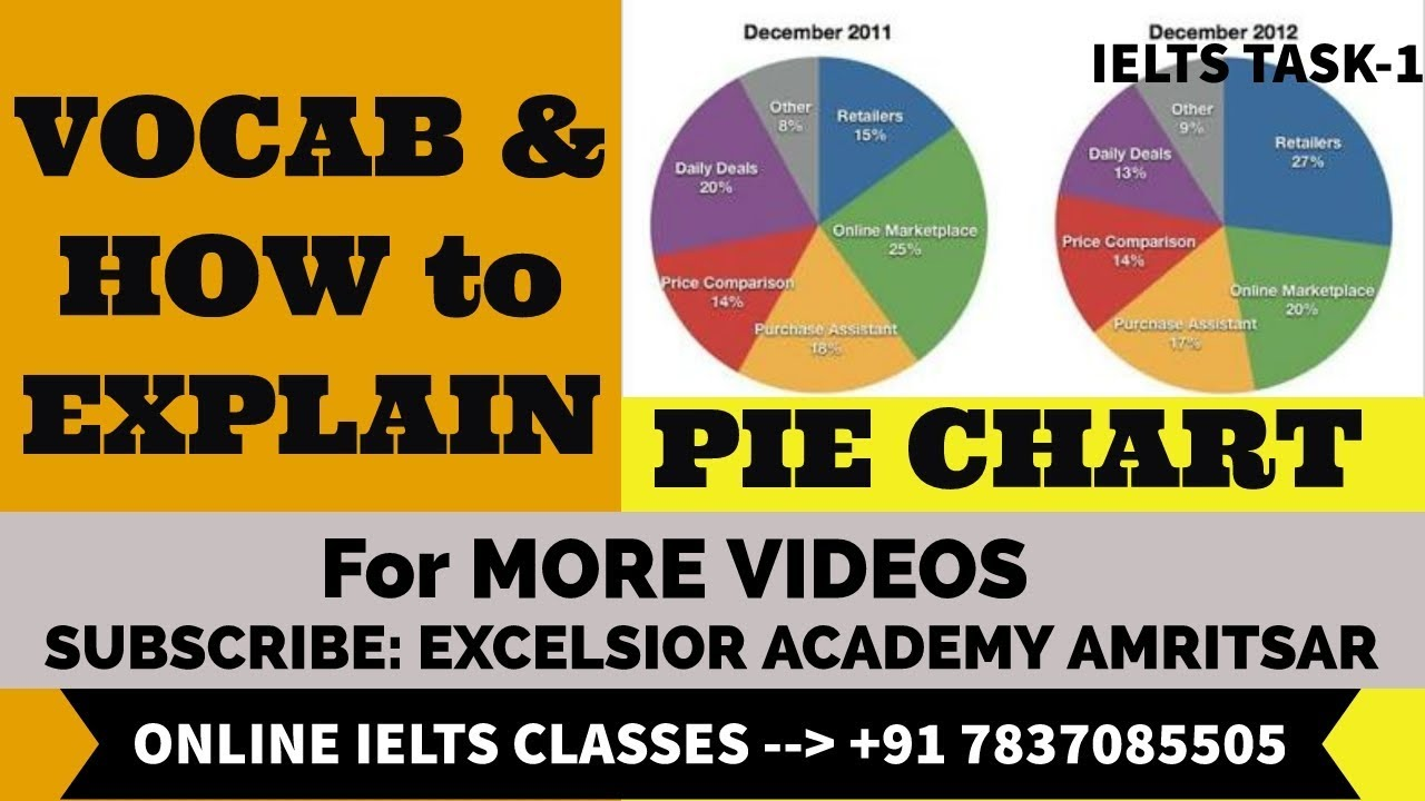 PIE CHART VOCAB & HOW TO DESCRIBE it ( English +Punjabi mix) by EAIIC :  EXCELSIOR ACADEMY, Amritsar