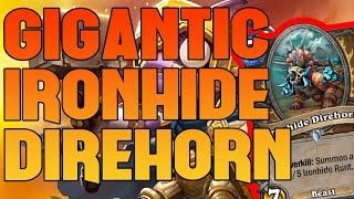 GIGANTIC Ironhinde Direhorn for the win - Rafaam is broken - Hearthstone Battlegrounds Highlights