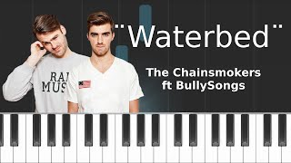 "Chainsmokers - ""Waterbed"" Piano Tutorial - Chords - How To Play - Cover"