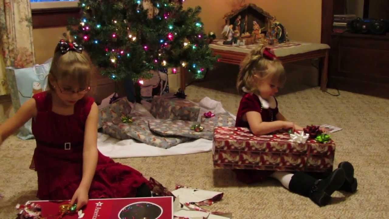 american girl doll special christmas eve gifts youtube